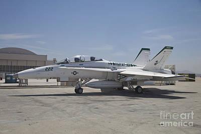 An Fa-18b Hornet In Centennial Markings Print by Timm Ziegenthaler