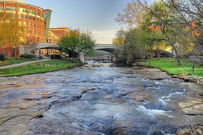 An Hdr Image Of The Reedy River In Downtown Greenville Sc Art Print