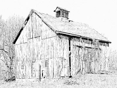 Digital Art - An Old Barn By My House by Digital Photographic Arts