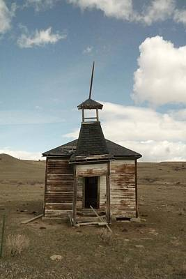 Birds Rights Managed Images - An Old Montana School House  Royalty-Free Image by Jeff Swan