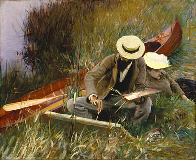 Nature Study Painting - An Out-of-doors Study by John Singer Sargent