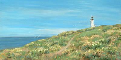 Anacapa Lighthouse Study Art Print by Tina Obrien
