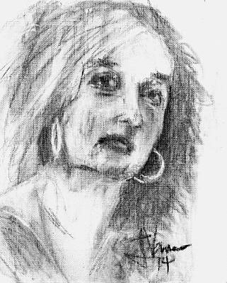 Drawing - Anais by Jim Vance