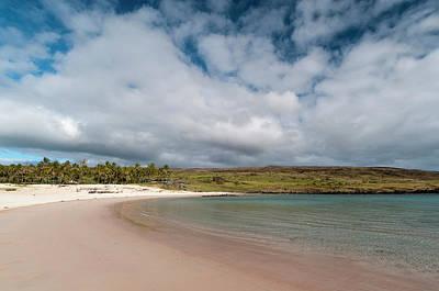 Anakena Beach, Rapa Nui, Easter Island Art Print
