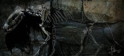 Photograph - Ancient Dog Skeleton by Jim Vance