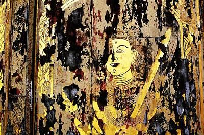 Phrathat Photograph - Ancient Door by Mishel Breen