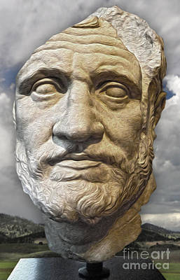 Painting - Ancient Greek Bust by Gregory Dyer