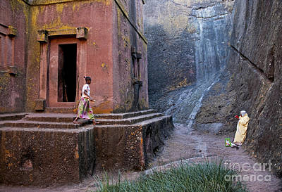 Photograph - Ancient Rock Hewn Churches Of Lalibela Ethiopia by Jacek Malipan