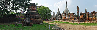 Ancient Ruins Of A Temple, Wat Phra Si Art Print by Panoramic Images