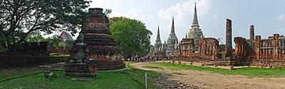 Ancient Ruins Of A Temple, Wat Phra Si Art Print