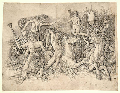Andrea Mantegna Italian, Ca. 1431 - 1506. Battle Art Print by Litz Collection