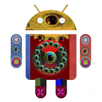 Painting - Android Machine Robot Warrior Space War Futuristic Remote Advance Computing  Art Navinjoshi  Rights  by Navin Joshi