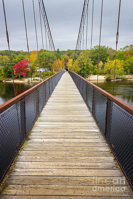 Androscoggin Photograph - Androscoggin Swinging Bridge by Benjamin Williamson