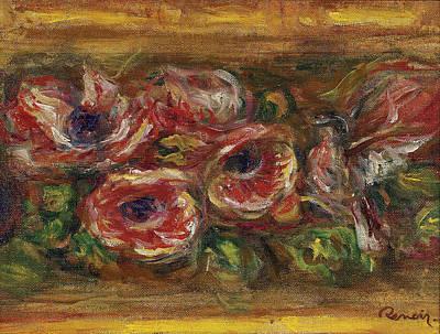 Anemone Renoir Painting - Anemones by Pierre-Auguste Renoir