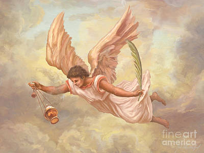 Devotional Painting - Angel Blessing by John Alan  Warford