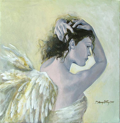 Angel    Art Print by Dorina  Costras