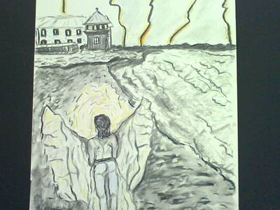 Alcatraz Mixed Media - Angel In A Storm by Suzanne Berthier