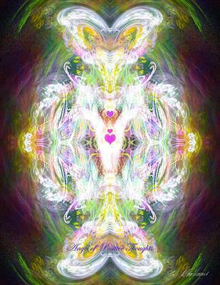 Digital Art - Angel Of Positive Thoughts by Diana Haronis