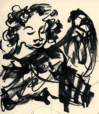 Religious Artist Drawing - Angel Sketch by Rachel Scott