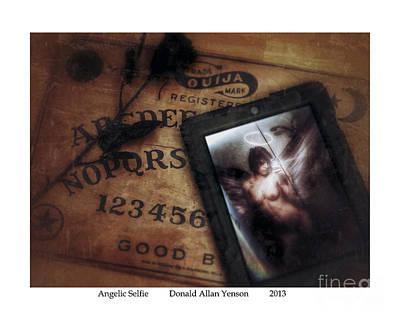 Self Shot Digital Art - Angelic Selfie by Donald Yenson