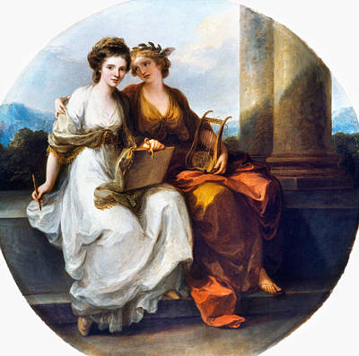 Character Portraits Painting - Angelica Kauffmann (1741-1807) by Granger