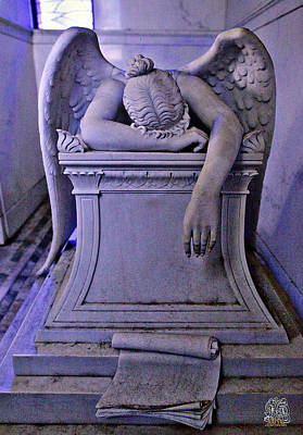Metairie Cemetery Photograph - Angelo Del Dolore by Jay D Anderson