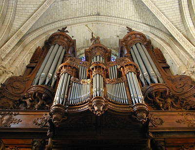 Photograph - Angers Cathedral Organ by Jenny Setchell