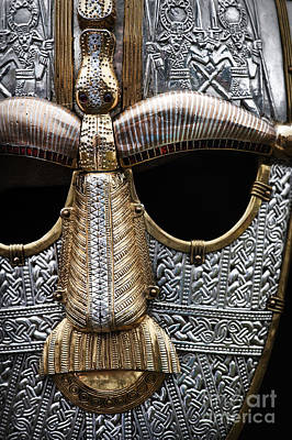 Photograph - Anglo Saxon Helmet Detail by Tim Gainey
