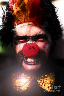 Clown Photograph - Angry The Clown by Jorgo Photography - Wall Art Gallery