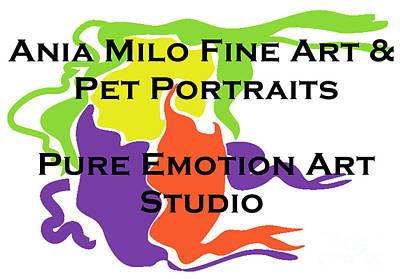 Ania Milo Art Logo Art Print