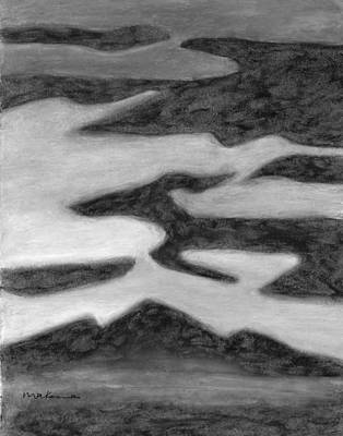 Painting - Animal Dreams In Flight Black And White by Carrie MaKenna