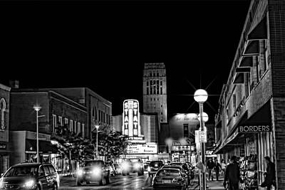 Ann Arbor Nights Art Print by Pat Cook