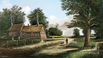 Anne Hathaway Painting - Anne Hathaway's Cottage by Ken Wood