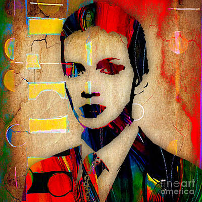 Annie Lennox Collection Art Print by Marvin Blaine