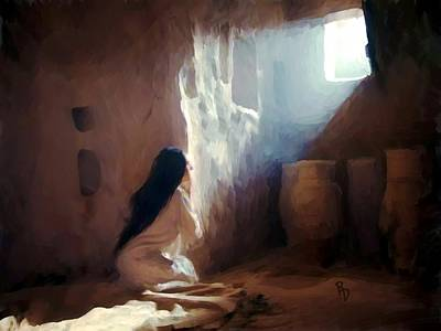 Annunciation Of Mary Art Print by Ric Darrell