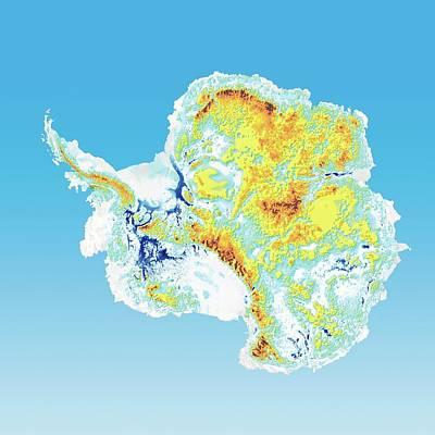 Elevation Photograph - Antarctic Bedrock by Henning Dalhoff