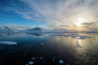 Antarctic Peninsula Photograph - Antarctica Near Adelaide Island by Inger Hogstrom