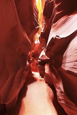 Photograph - Antelope Canyon In Winter Light 5 by Alan Vance Ley