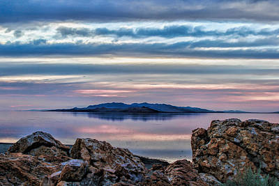 Antelope Island Sunset - 7 Art Print by Ely Arsha
