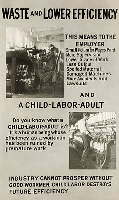 Photograph - Anti-child Labor Poster by Granger