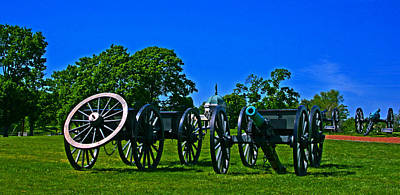 Antietam National Battlefield Row Of Cannons Original