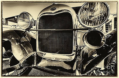 Photograph - Antique Ford Car by Danny Hooks