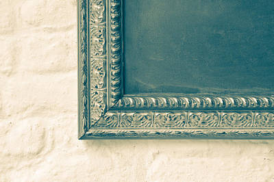 Chalk Boards Photograph - Antique Frame by Tom Gowanlock