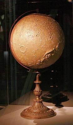 Astrogeology Photograph - Antique Moon Globe by Detlev Van Ravenswaay