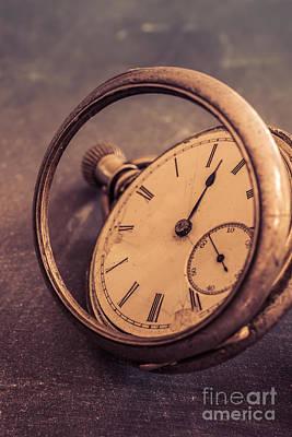 Bust Photograph - Antique Pocket Watch by Edward Fielding