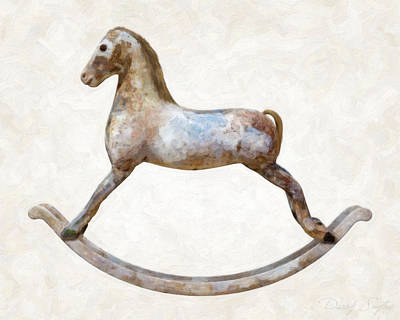 Studio Shot Photograph - Antique Rocking Horse by Danny Smythe