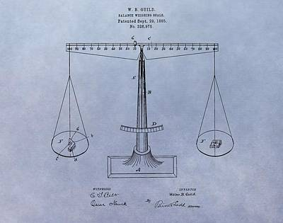 Newton Digital Art - Antique Scale Patent by Dan Sproul