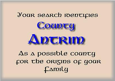 Mcdonalds Mixed Media - Antrim Ancestry by Val Byrne