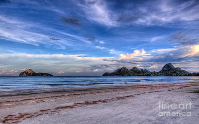 Remote Digital Art - Ao Manao Bay by Adrian Evans