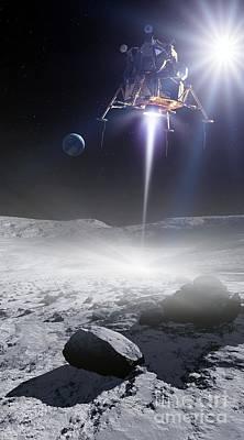 Apollo 11 Moon Landing, Artwork Art Print by Detlev van Ravenswaay